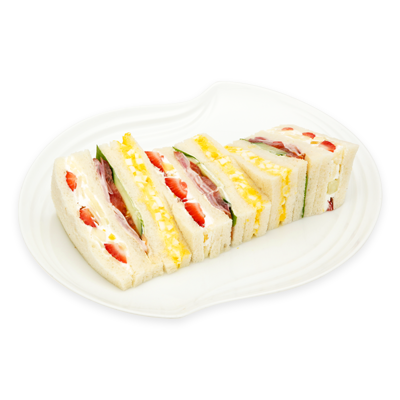 ミックスサンド (ハム&野菜・玉子・フルーツの3種類のサンド)