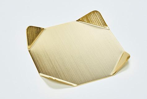 金色の特製コースター